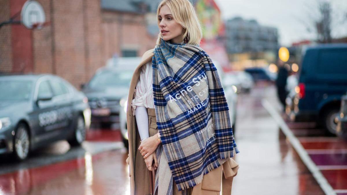 6 теплых шарфов для морозных дней: стильная подборка
