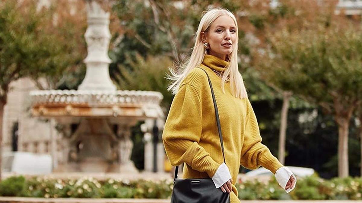 Яркие свитера модного цвета года