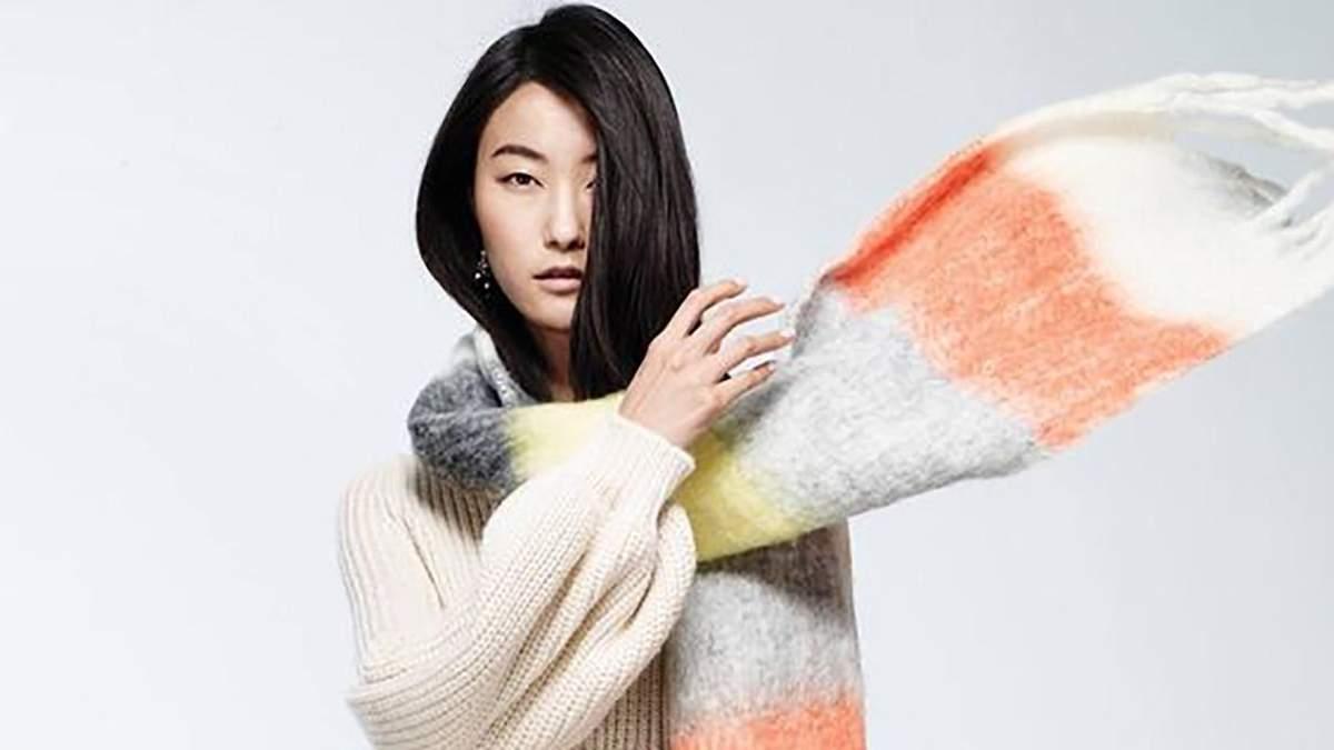 Зимові шарфи для стильних виходів: яскрава добірка модних виробів
