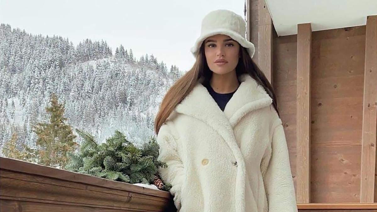 Стильный зимний образ Анны Андрес