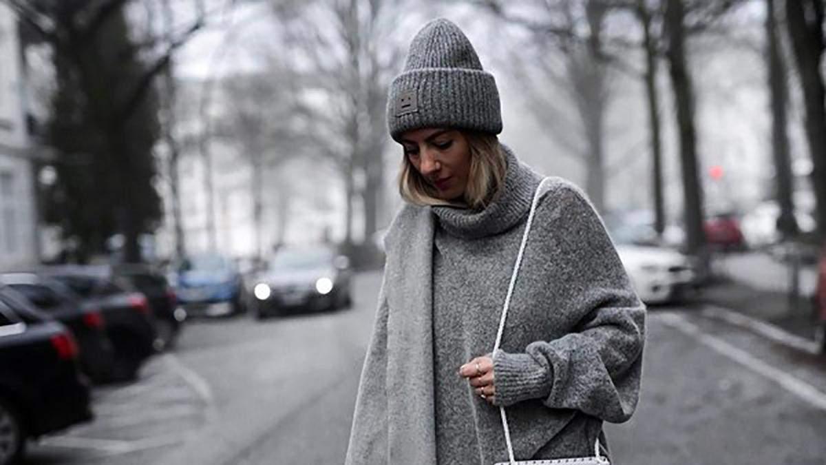 Грозовая туча, мокрый камень и серебряная лиса: как носить оттенки серого зимой