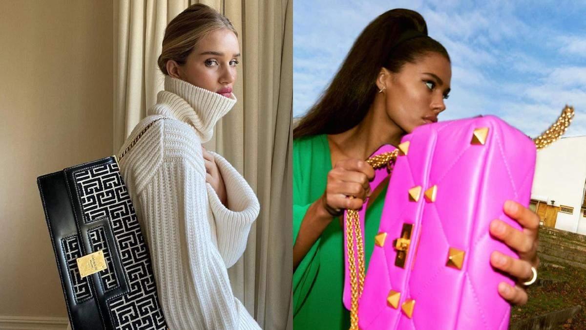 Balmain, Louis Vuitton и Chanel: какие сумки носят Эльза Хоск, Кайли Дженнер и другие звезды