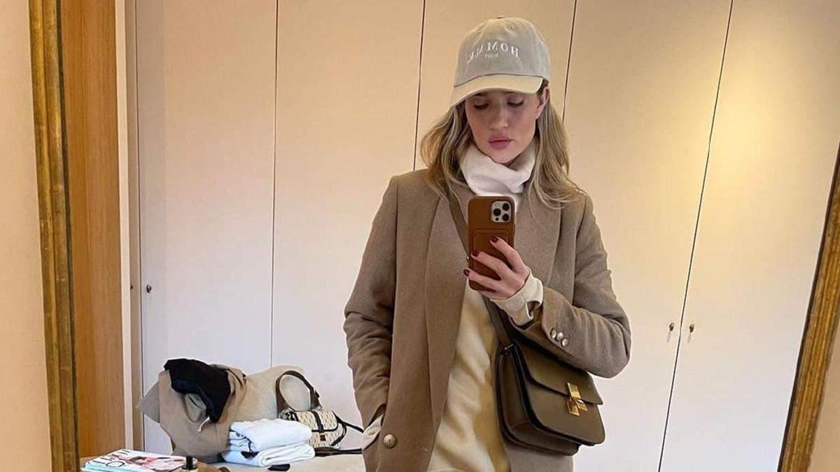 10 стильных зимних образов Рози Хантингтон-Уайтли, которые захочет повторить каждая модница