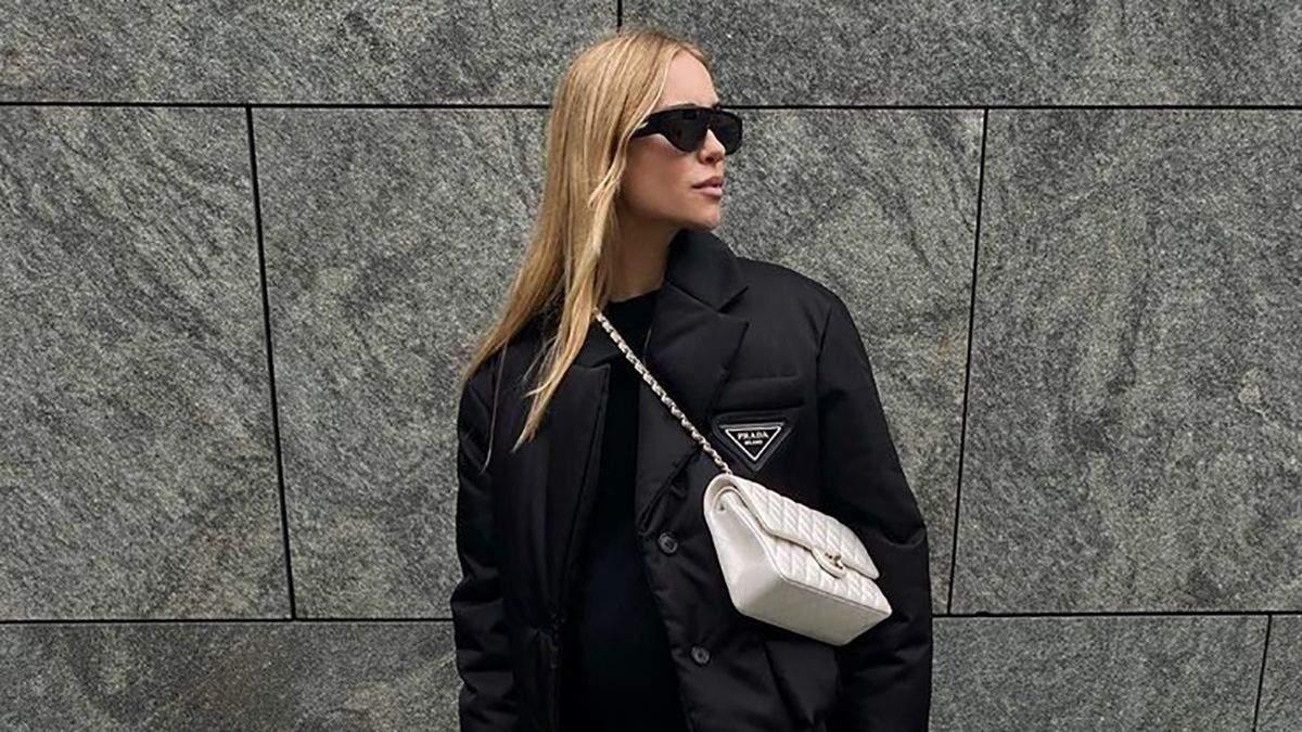 Как стильно носить черный цвет вхимку: примеры
