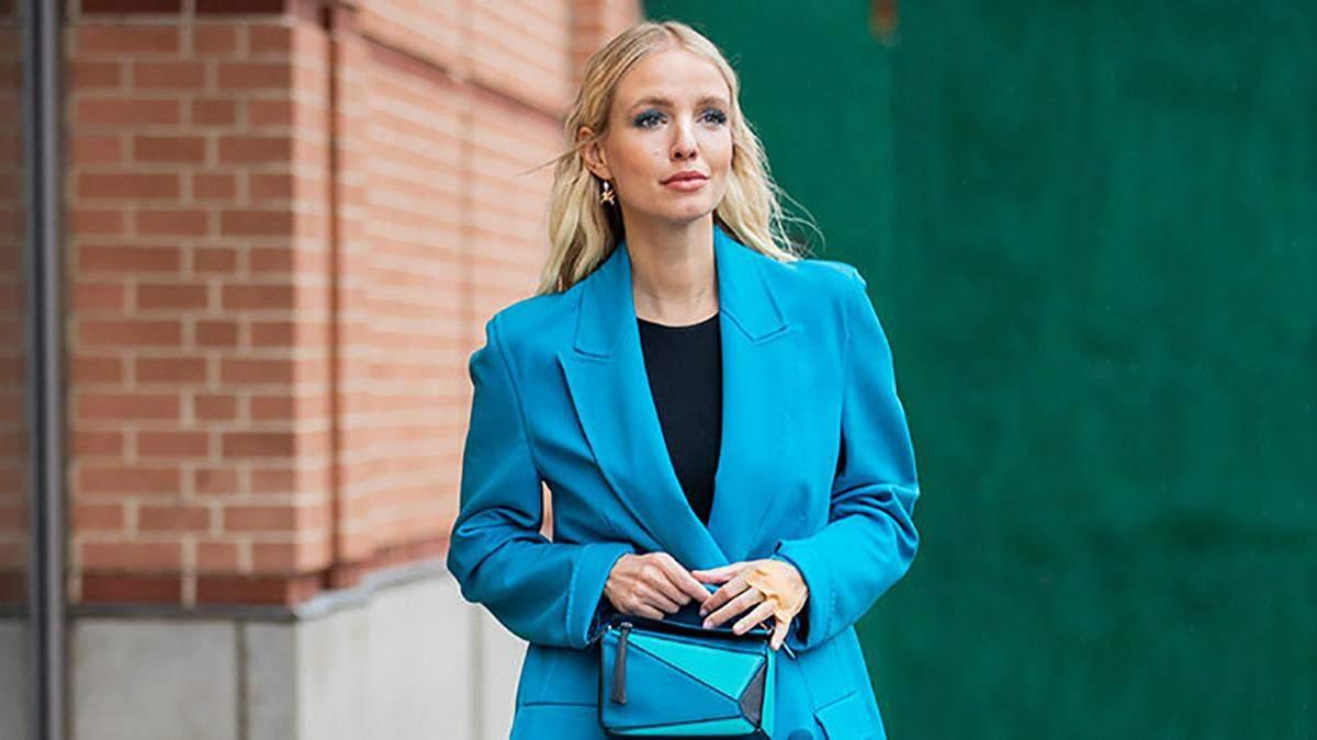 Як носити взимку всі відтінки голубого: модні приклади від Леоні Ганне