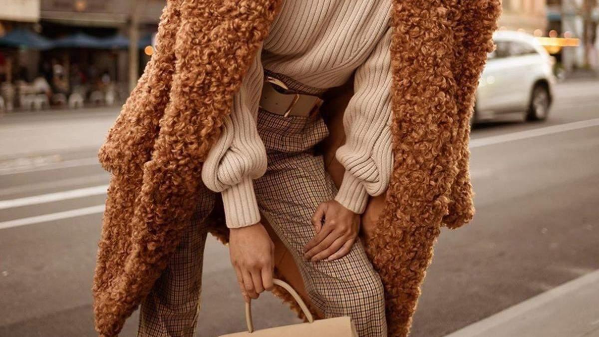С чем сочетать брюки зимой: стильные фотографии