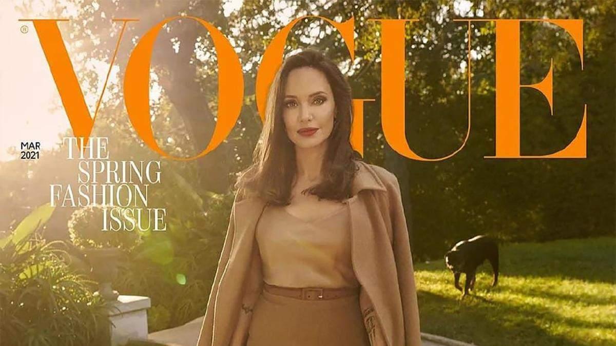 Анджелина Джоли появилась на обложке Vogue и покорила сеть невероятными кадрами