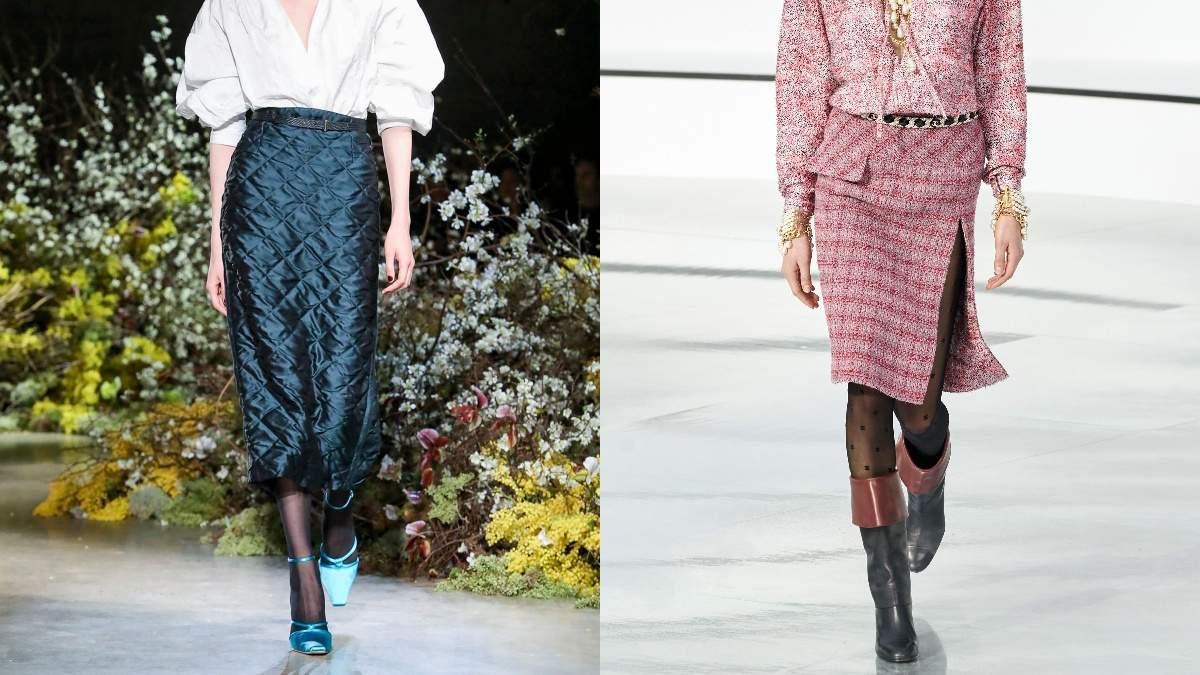 Кожа, трикотаж и твид: какие юбки носить в холодное время года
