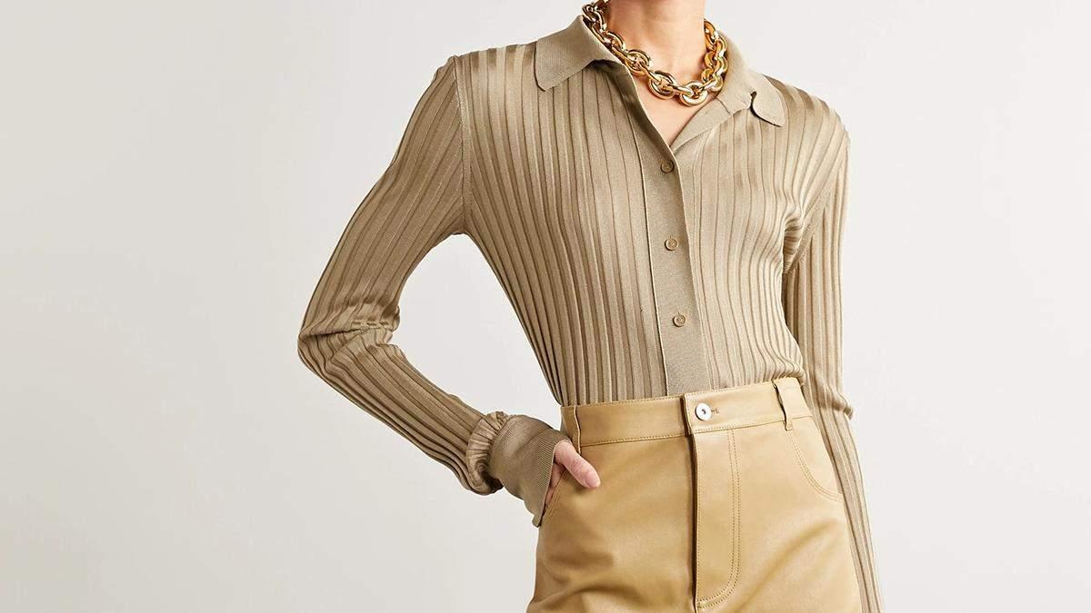 Трикотажная рубашка – тренд весны: модные примеры