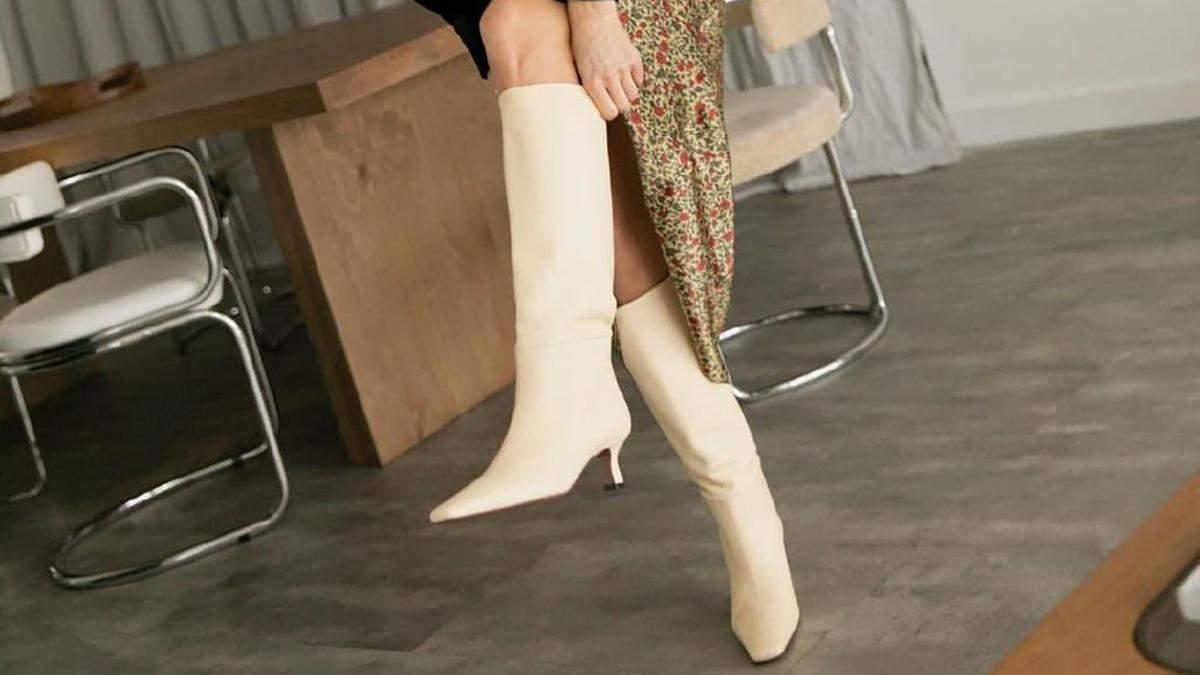 Cтильні чоботи на весну: фото