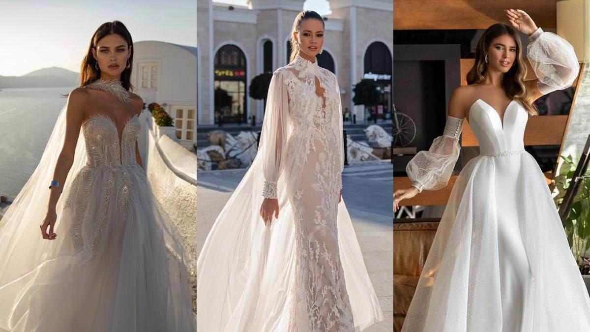 Трендовые свадебные платья 2021: фото и описание
