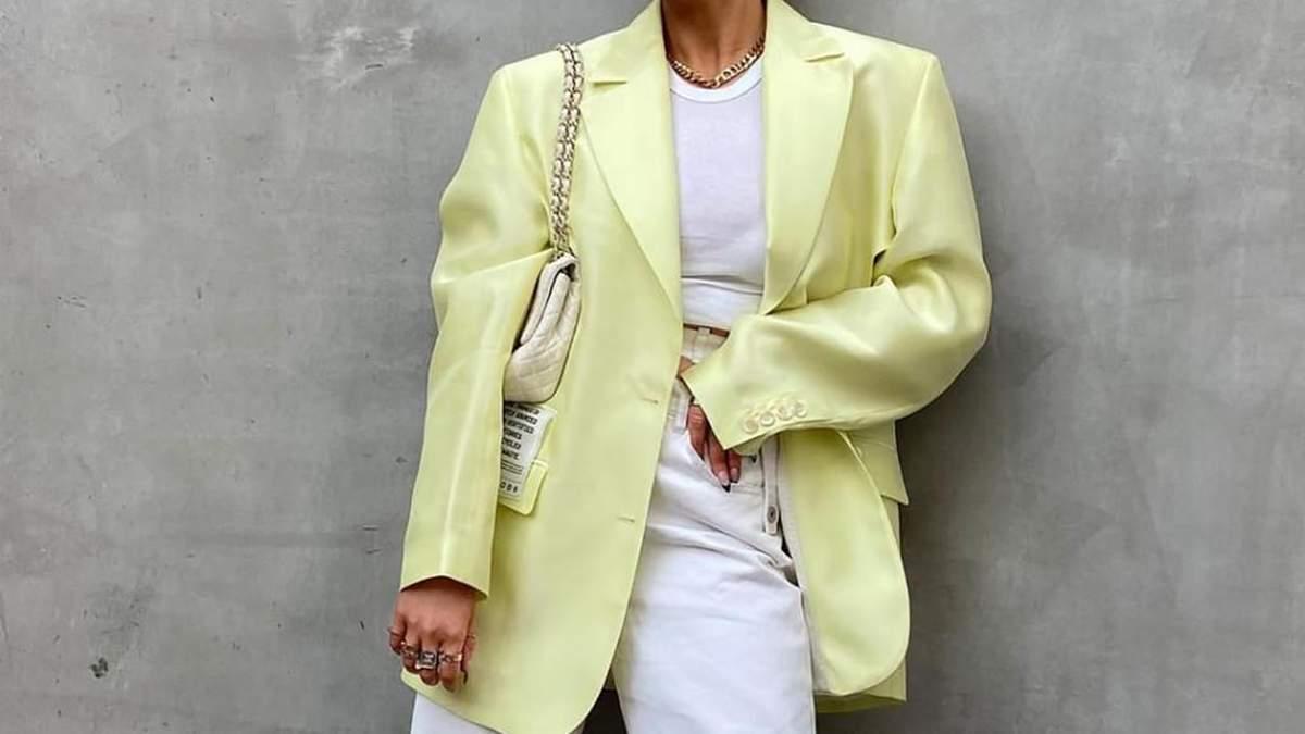 З чим носять жакет модні блогери