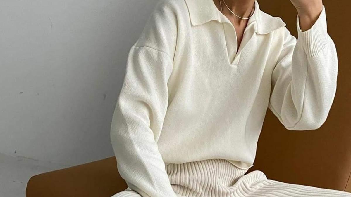 Джемпер поло - тренд весни: фото стильних образів