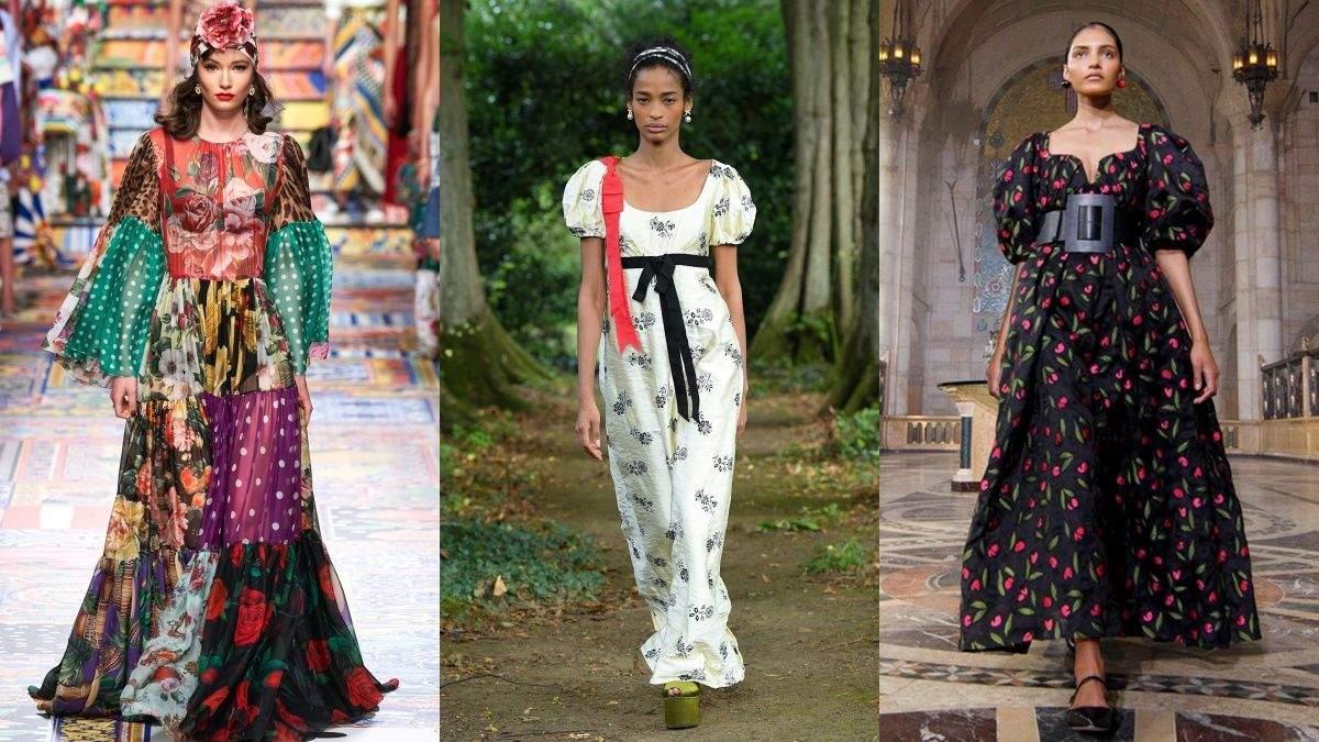 Цветочные платья – тренд этого сезона: на какие фасоны нужно обратить внимание