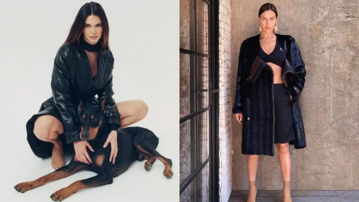 Джиджи Хадид, Кендалл Дженнер и Ирина Шейк примеряли одежду из новой коллекции Burberry: фото