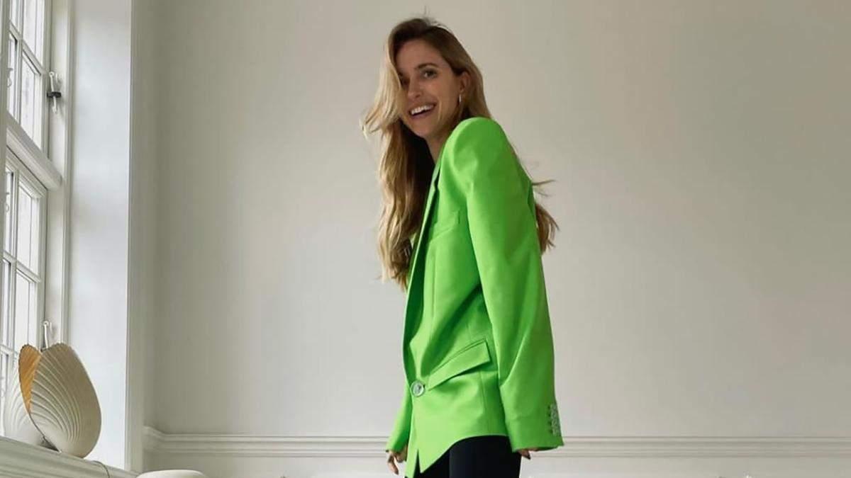 Стильные образы с зеленым неоном