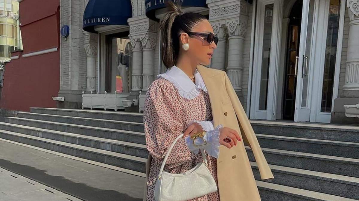 Стильный микротренд сезона - платье с воротничком