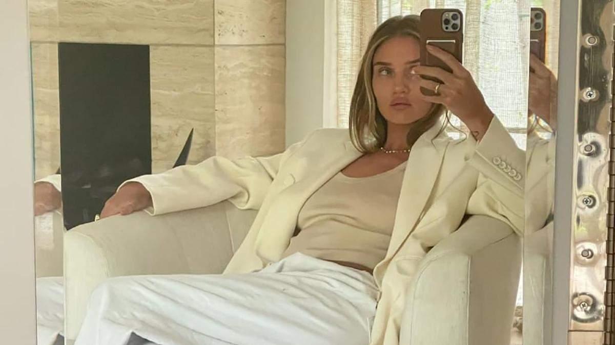 Стильный образ Рози Хантингтон-Уайтли