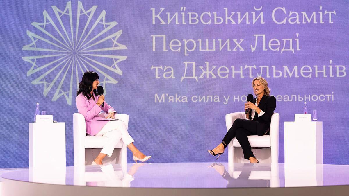 Маша Єфросиніна одягнула на саміт перших леді та джентльменів бузковий жакет the COAT: фото - Fashion
