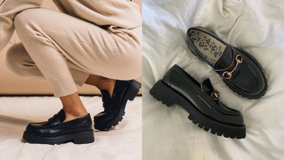 Лоферы – трендовая обувь осени: модные образы от инфлюэнсеров