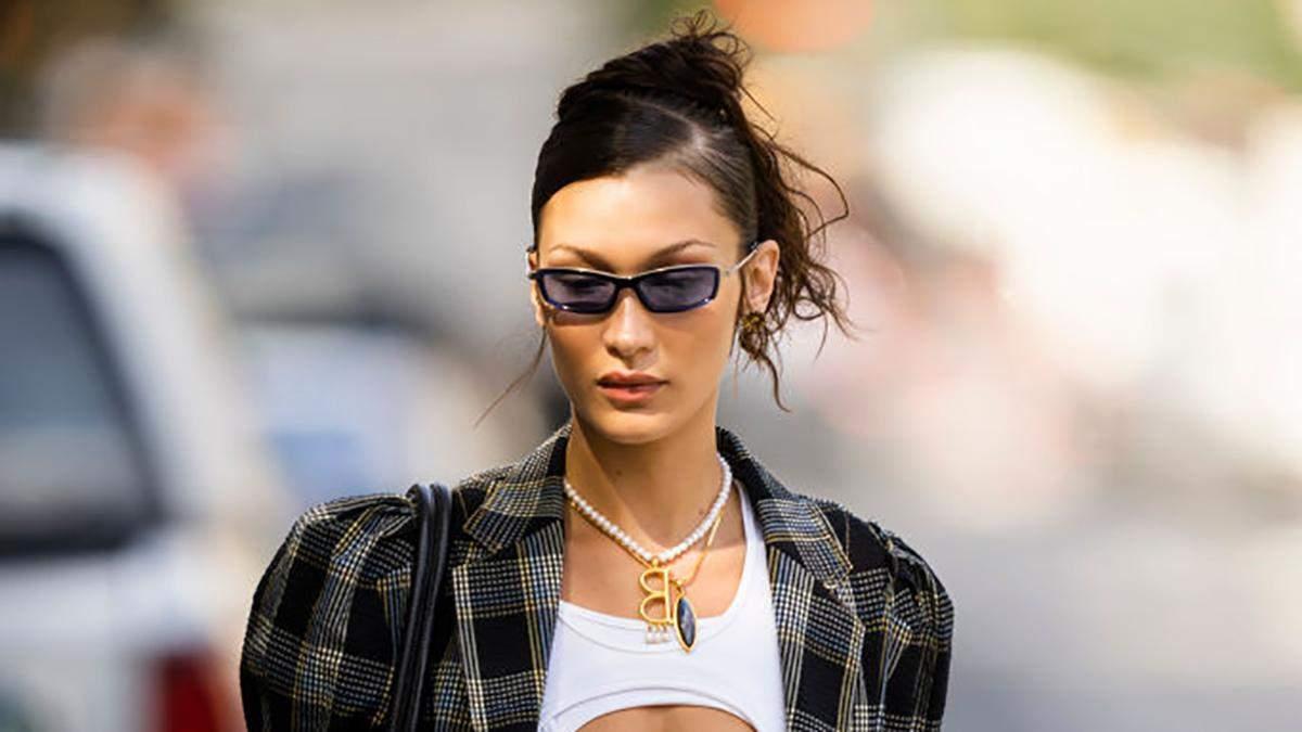 Белла Хадід обирає цього сезону костюм в клітинку: модний вихід - Fashion