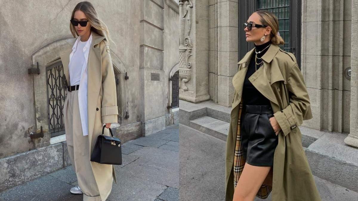 Найстильніші тренчі осені: що обирають цього сезону інфлюенсери - Fashion