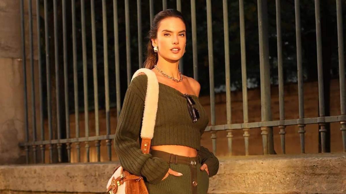 Осінь – золотий час для трикотажу: Алессандра Амбросіо зачаровує мережу оливковим образом - Fashion