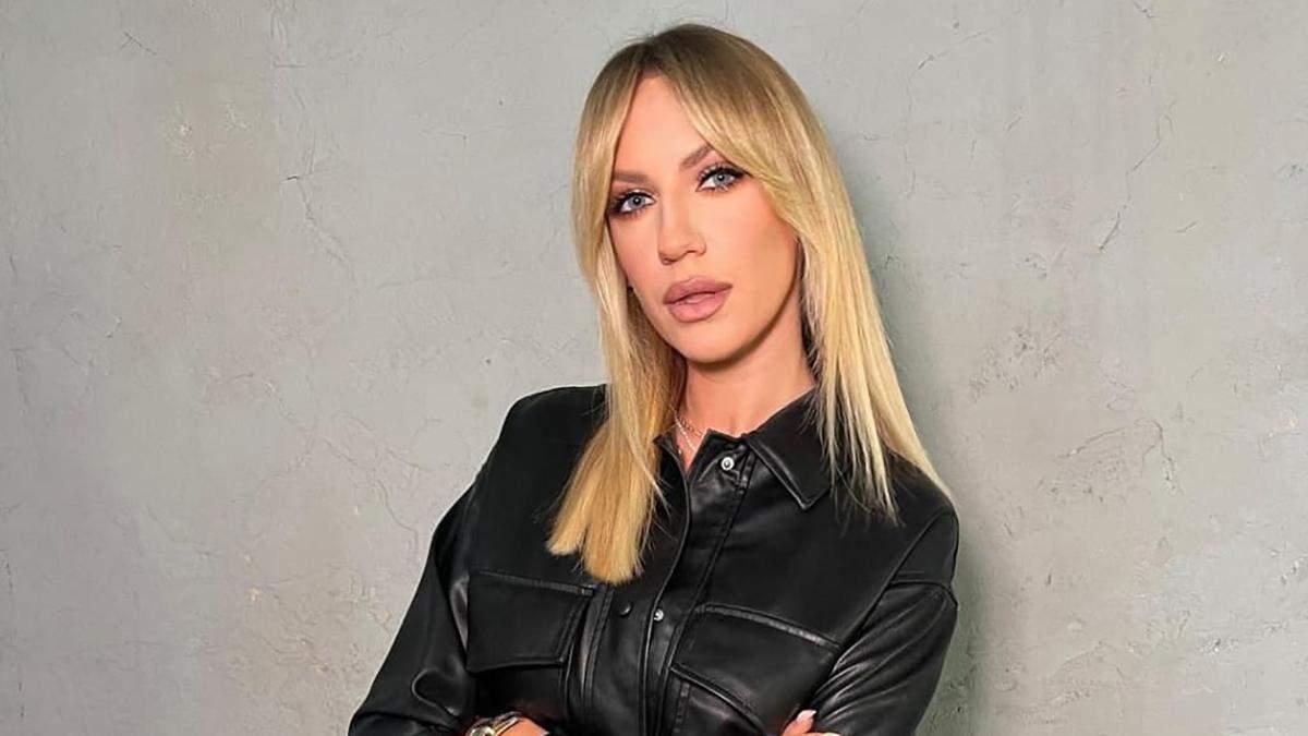 Леся Нікітюк приголомшила ефектним образом у шкіряному костюмі: стильні кадри - Fashion