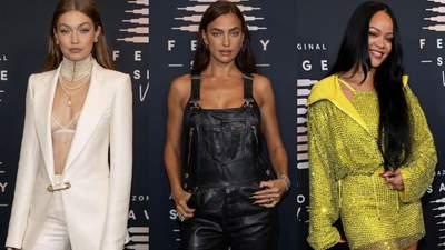 Джіджі Хадід, Ірина Шейк та Ріанна прийшли на презентацію Savage x Fenty в розкішних образах