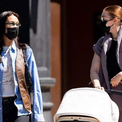 Сестры на прогулке: Белла и Джиджи Хадид показали безупречные образы