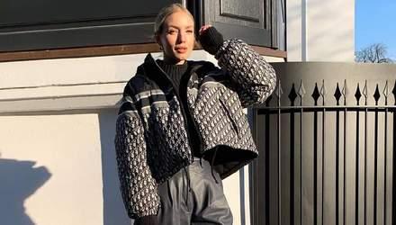 Пуховик Dior та взуття Bottega Veneta: Леоні Ганне прогулялася Гамбургом у люксовому вбранні