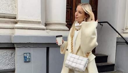 Total look цвета мороженого: Леони Ханне прогулялась в элегантном образе