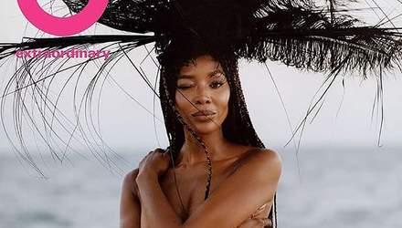 50-летняя супермодель Наоми Кэмпбелл обнажила грудь в откровенной фотосессии: горячие кадры 18+