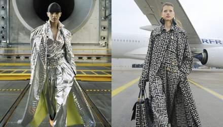 Модный показ в аэропорту: коллекция Balmain осень – зима 2021/2022