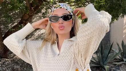 Цієї весни ми будемо носити в'язаний костюм, як у Ельзи Госк: стильний образ