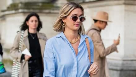 З чим носити голубу сорочку цієї весни: стильні приклади