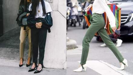 Легінси зі штрипками – модний тренд: стильні приклади трендсеттерів