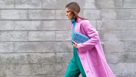 Колорблокінг – актуальне поєднання кольорів цієї весни: чарівні образи зірок стрітстайлу