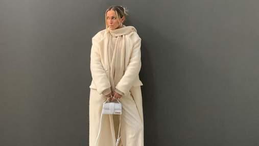 Пальто Zara і сумка Jacquemus: Софія Коельо вразила молочним образом – чарівні фото