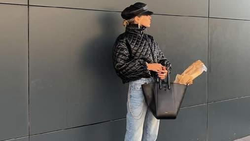 Софія Коельо зібралася по хліб у трендовій куртці та чоботах на масивних підборах: ефектне фото