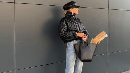 София Коэльо вышла за хлебом в трендовой куртке и сапогах на массивном каблуке: эффектное фото