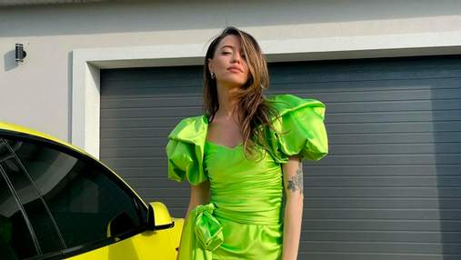 Надя Дорофєєва захопила образом у брендовій мінісукні за 49 тисяч гривень