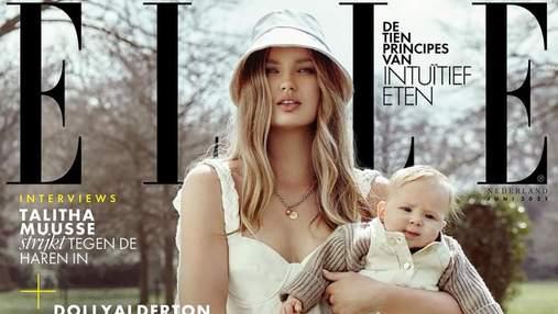 Модель Ромі Стрейд вперше знялася для глянцю Elle зі своєю донечкою: миловидні кадри