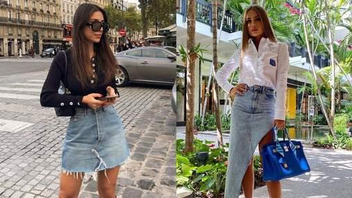 Образы с джинсовой юбкой: стильные сочетания, которые вам понравятся