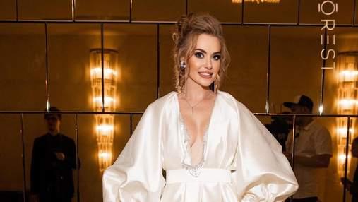 Слава Каминская появилась в образе невесты на светском мероприятии: эффектные фото