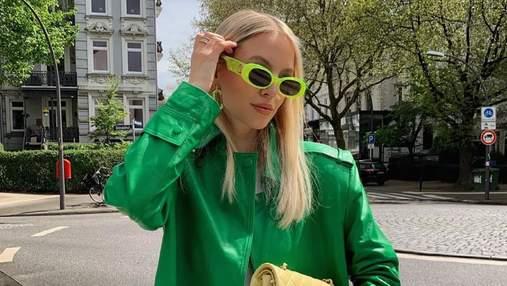 Леони Ханне поразила изысканным образом в зеленом кожаном тренче: роскошные кадры