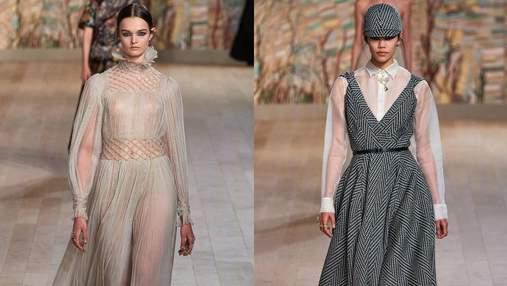 Роскошные платья, сарафаны на сатиновые костюмы: коллекция Dior Couture осень – зима 2021/22