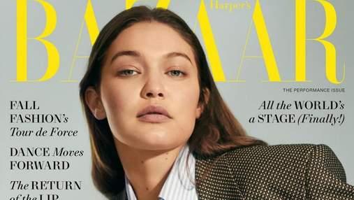 Джиджи Хадид украсила обложку Harper's Bazaar в жакете Gucci: очаровательное фото