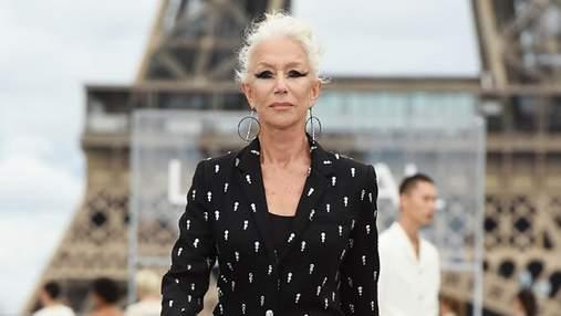 76-річна Гелен Міррен вийшла на подіум під час показу L'Oréal Paris: вражаючий образ