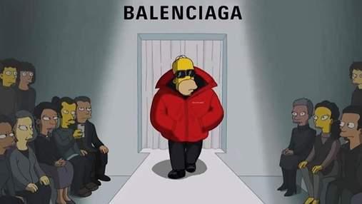 Коллекцию Balenciaga весна – лето 2022 показали в мультфильме Simpsons: фото и видео